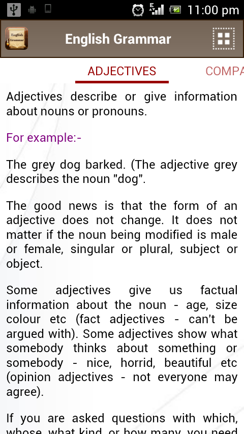 English Grammar Book Add Free - screenshot