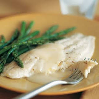 Baked Sole with Asparagus.
