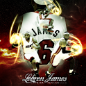 Lebron James live wallpaper HD icon
