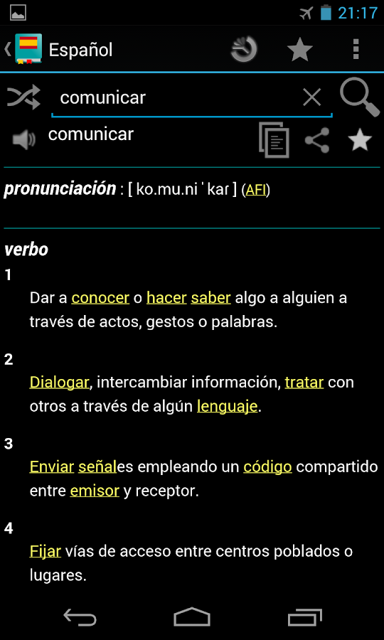 Spanish Dictionary - Offline - screenshot