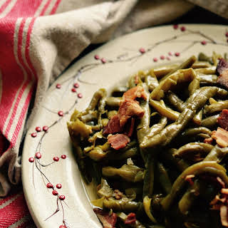 Crockpot Southern Green Beans with Bacon.