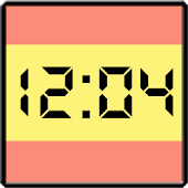 Flag LCD Clock Widget España