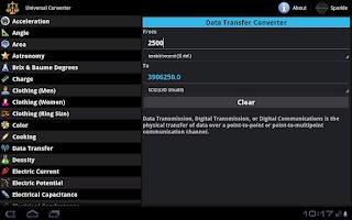 Screenshot of Universal Converter for Tablet