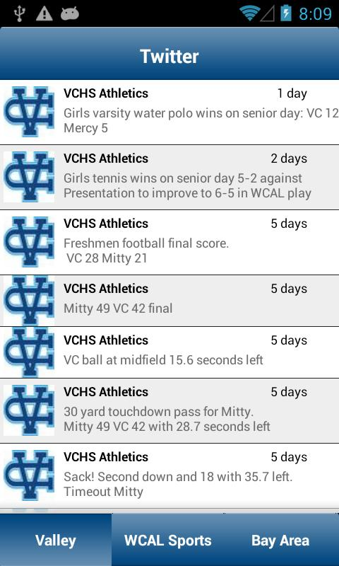 Valley Christian High School- screenshot