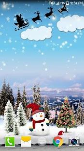 Sněžení Free Live Wallpaper - náhled