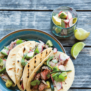 Steak & Chile Tacos with Avocado-Radish Salsa