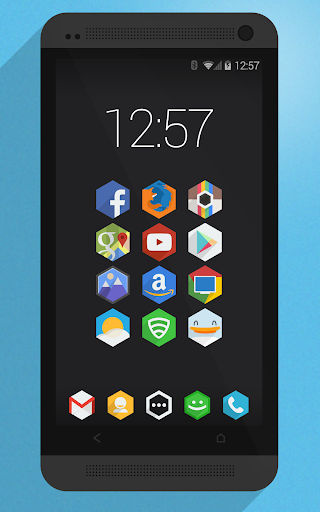 Flatty - A Flat Hex Icon Pack