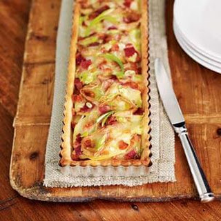 Potato, Green Onion & Bacon Tart