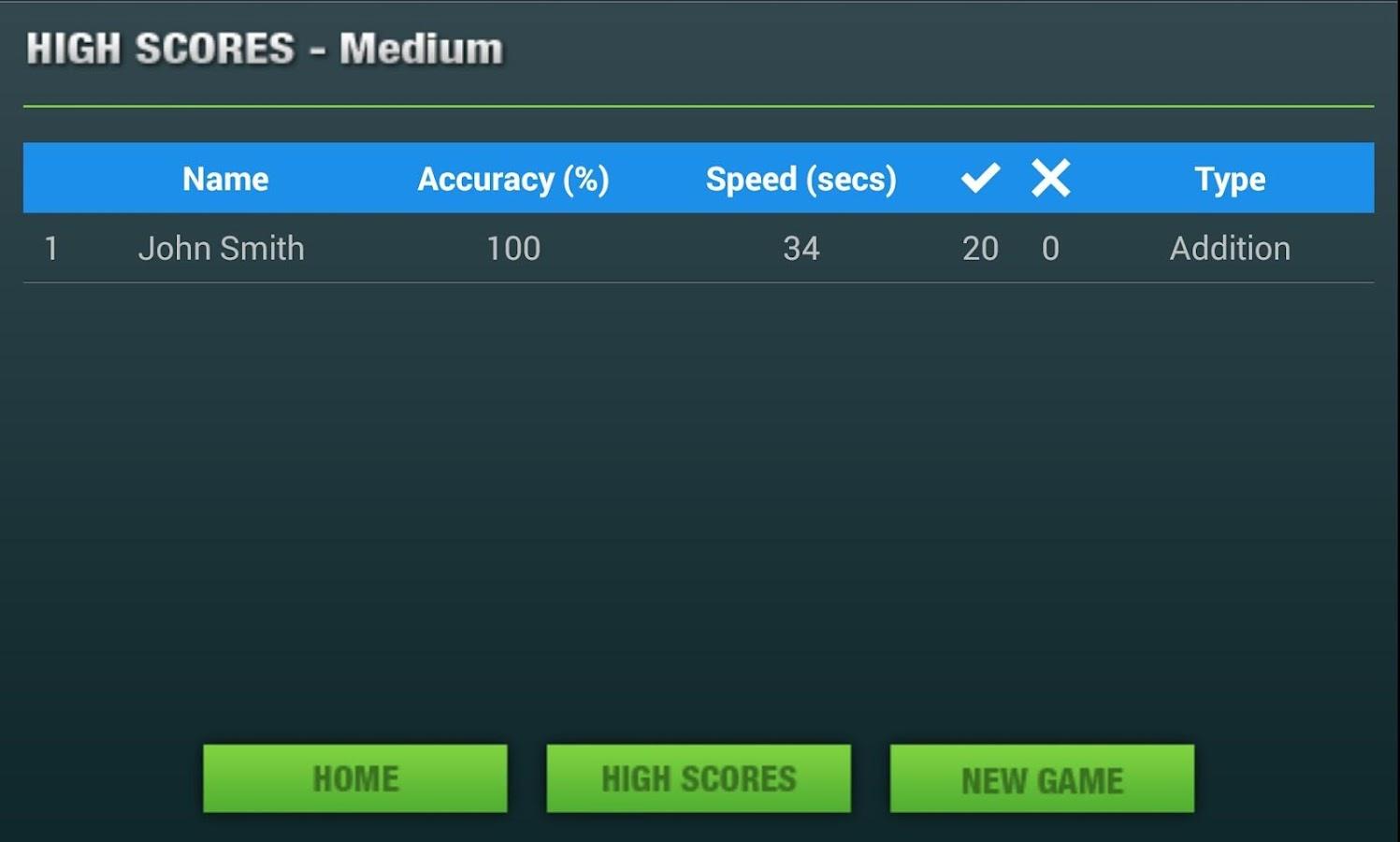 Numb3r Crunch - Mental Maths - screenshot
