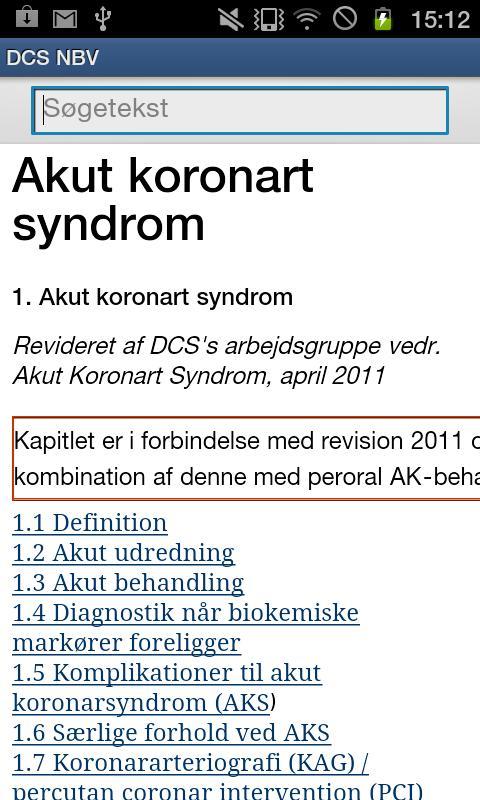 Dansk Cardiologisk Selskab NBV- screenshot
