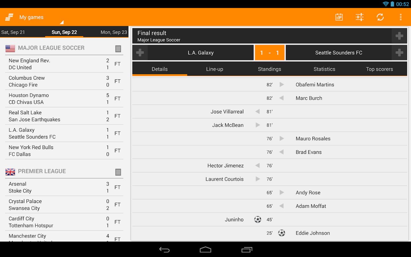 Sporee - Live Soccer Scores - screenshot