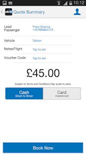 ubiCabs -Book taxis & minicabs- screenshot thumbnail