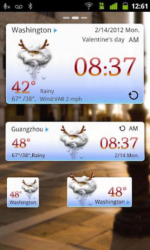 玩免費天氣APP|下載Christmas Theme GOWeatherEX app不用錢|硬是要APP