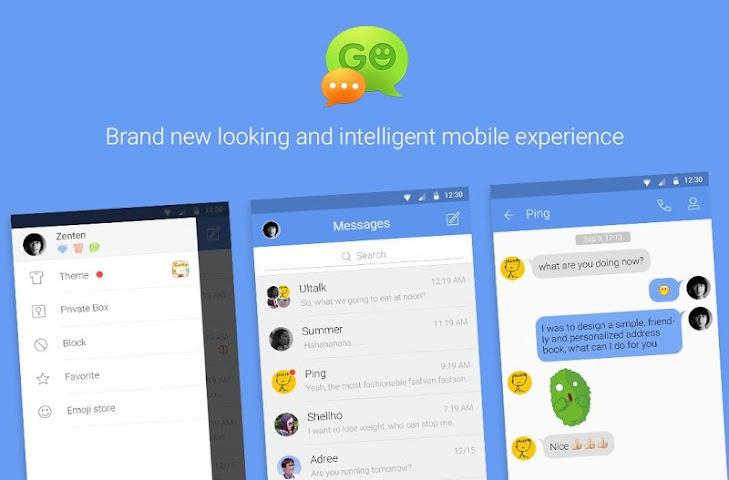 Screenshot 1 GO SMS Pro