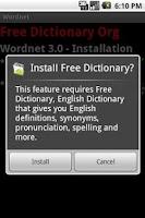 Screenshot of Wordnet - Free Dictionary Org