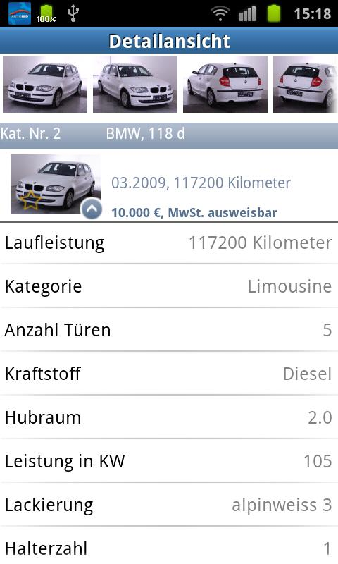 Autobid.de - screenshot