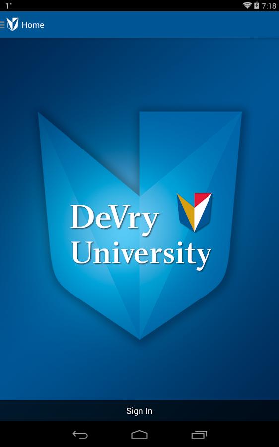 Devry University Wel e