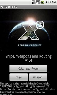 X3 TC Ship list- screenshot thumbnail