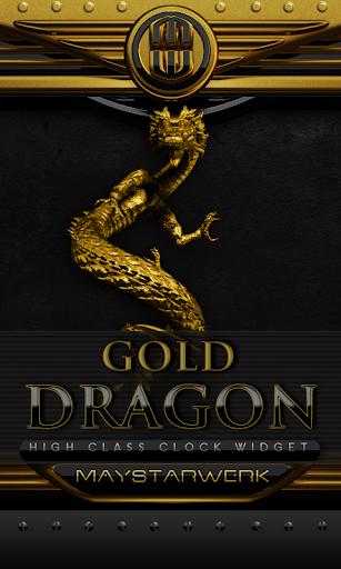 金ドラゴンの時計ウィジェット