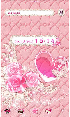 Cute Theme Lovely Pink Hearts - screenshot