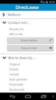 Screenshot of DirectLease Berijdershulp