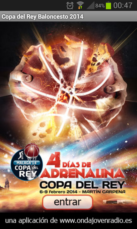 Copa del Rey baloncesto 2014- screenshot