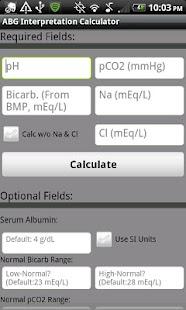 Arterial Blood Gas Interpreter- screenshot thumbnail
