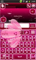 Screenshot of Go Keyboard Fairy Pink