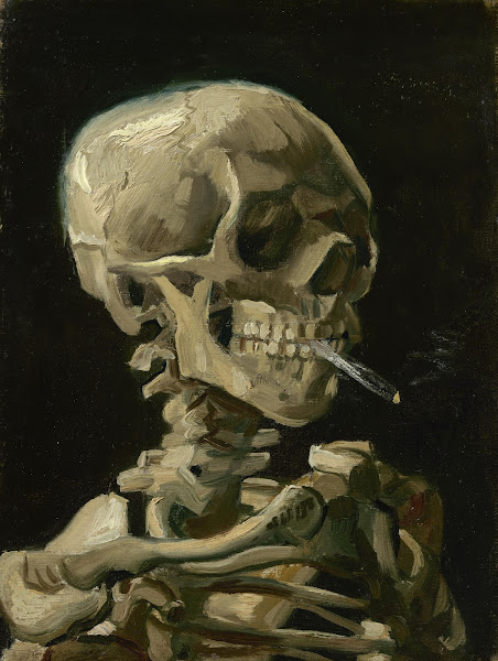 Head of a Skeleton with a Burning Cigarette - Van Gogh Museum