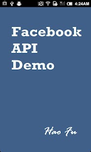 Facebook API Demo - screenshot thumbnail