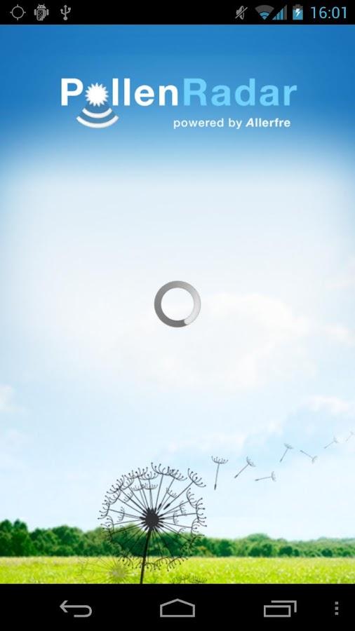 Hooikoorts Pollenradar- screenshot