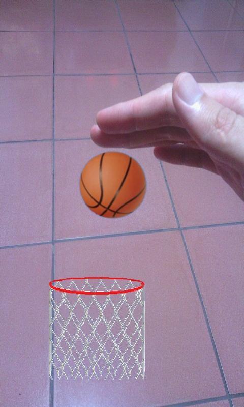 Bounce Ball (AR Basketball)- screenshot