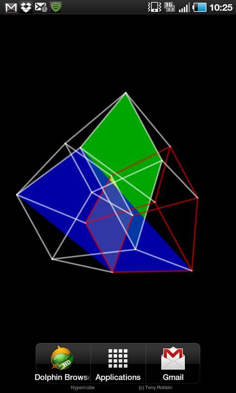 4D Hypercube Live Wallpaper- screenshot