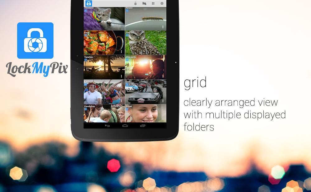 Hide pictures with LockMyPix - screenshot