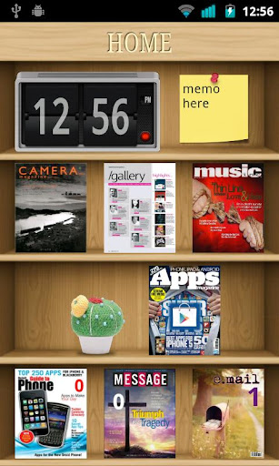 Bookcase 2 theme ssLauncher