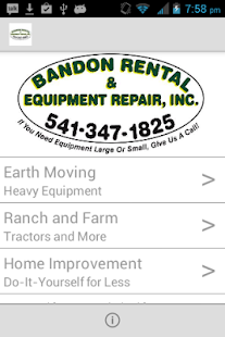 Bandon Rental and Equip Repair- screenshot thumbnail