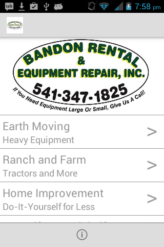 Bandon Rental and Equip Repair- screenshot