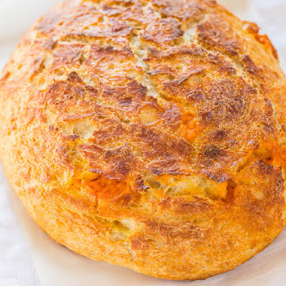 Easy Cheddar Sourdough Bread.