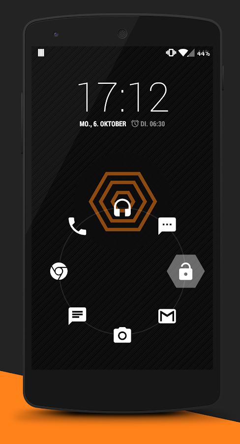 Xen Orange CM 11 Theme - screenshot