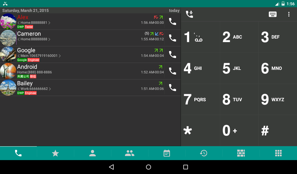 #9. DW Contacts & Phone & Dialer (Android)