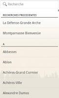 Screenshot of Paris metro subway guide
