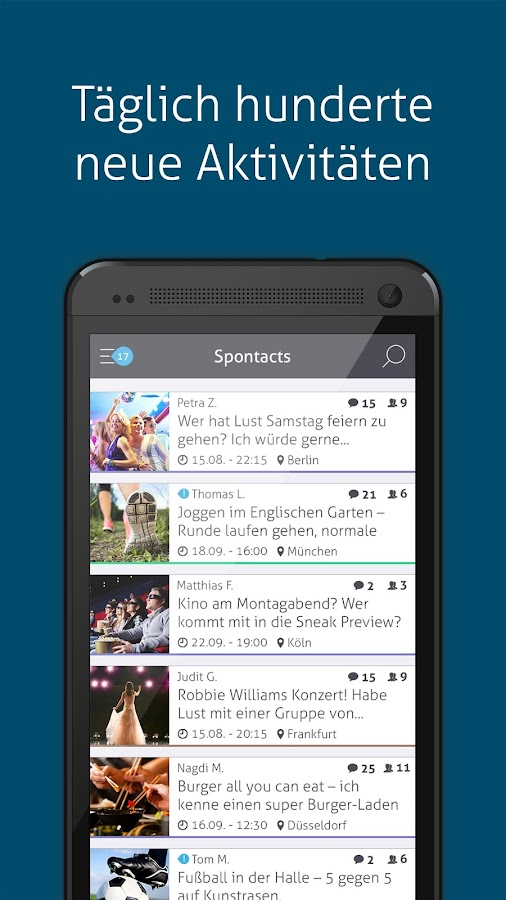 Spontacts - screenshot