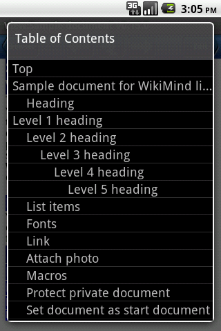 WikiMind note - screenshot