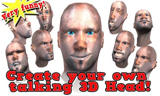 經我說話臉:3D頭