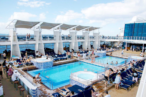 Celebrity-Eclipse-pool - The main pool aboard Celebrity Eclipse.