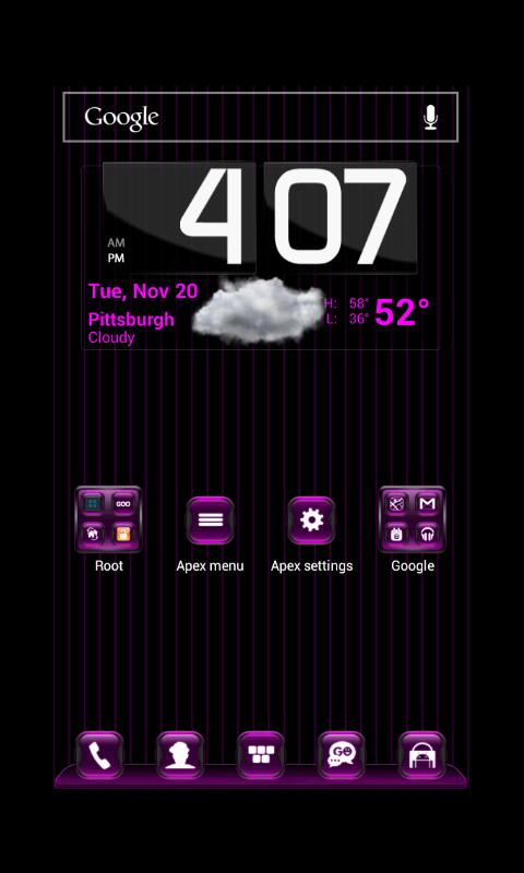 Kosmic Theme Apex Launcher - screenshot