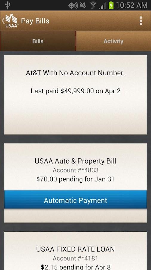 USAA Mobile screenshot