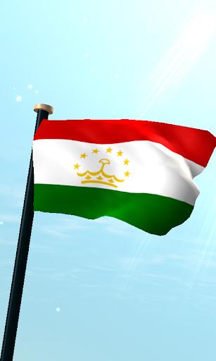 塔吉克斯坦旗3D免費動態桌布