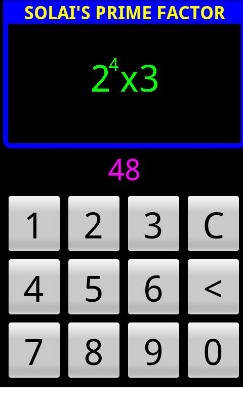 Solai's Prime Factor- screenshot