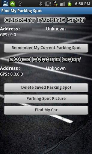 Find My Parking Spot
